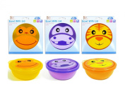 """First Steps"" Pack of 7.6cm The Jungle Bowls With Lid - Microwave Safe"
