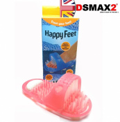 HAPPY FEET CLEANS EX-FOLIATES AND MASSAGES BUILT IN PUMICE STONE PINK