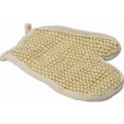 Wash glove exfoliating mitt made from sisal and cotton