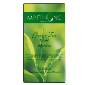 Green Tea Leaf The Soap Bar Natural Maithong 100g Herbal Soap Spa Acne Facial Face Body Wash Skin Care Slow Ageing