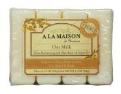 A La Maison Bar Soap Oat Milk, Super Value Pack 4 Count
