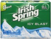 Irish Spring Icy Blast Cool Refreshment Deodorant Soap 8 x 120 ml