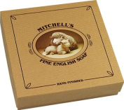 Mitchell's Wool Fat Round Soap 4x150g Gift Box