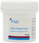 Arjun 0.5% Menthol Aqueous Cream 500g