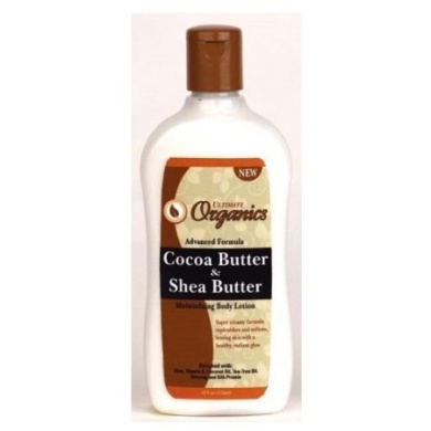 Ultimate Organics Cocoa Butter and Shea Butter Body Lotion 350ml