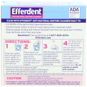 Efferdent Anti-Bacterial Denture Cleanser 40-Count