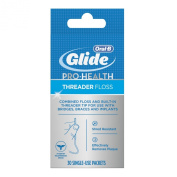 Glide Threader Floss, 30-Count Boxes Of Single-Use Packets