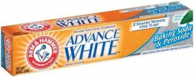 Arm & Hammer Arm & Hammer Advance White Fluoride Toothpaste Baking Soda And Peroxide, Baking Soda And Peroxide 180ml