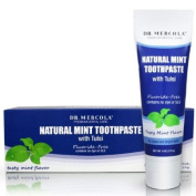 Dr. Mercola, Natural Mint Toothpaste, with Tulsi, Fluoride-Free, 180ml