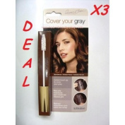 Cover Your Grey Hair Mascara for women DARK BROWN Pack of 3