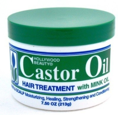 Hollywood Beauty Castor Oil with Mink Oil 222 ml (3-Pack)