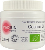 Raw Coconut Oil Organic Extra Virgin Cold Pressed Unrefined 500 ml (460g) 1 litre 2 litre 3 litre 6 litre L - Certified Organic by the Soil Association - PINK SUN