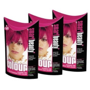 SMART COLOUR SEMI-PERMANENT CARMINE PINK HAIR COLOURING X 3