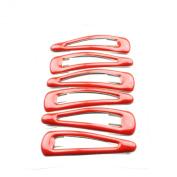 6 Red Plain Hair Slides IN4588