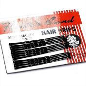 12 Black Small Kirby Hair Grips AJ8565