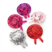 Hot Pink Sequin Hat Mini Fascinator/Beak Clip AJ22493