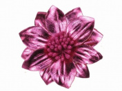 Glitz4Girlz Metallic Hot Pink Flower Hair Clip