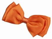 Glitz4Girlz Orange Satin Bow Clamp