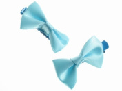 Glitz4Girlz Mini Blue Satin Bow Clamps