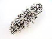 8 cm Vintage/ Antique Style Crystal/ Diamante Flower Design Hair Barrette/ Hair Clip/ Hair Slide