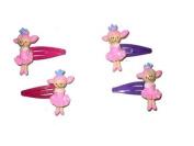 2 Girls Pink Plastic Doll Hair Slides EA6508