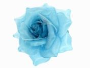 Glitz4Girlz Blue Rose Hair Clip