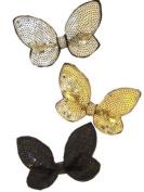 Black Sequin Butterfly Beak Clip IN9276