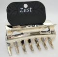 Gold 9cm Wide Acrylic Hair Claw Jaw Clip Hair Accessories by Zest