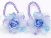 Glitz4Girlz Lilac Rose Hair Elastics