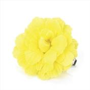 Yellow Small Fabric Flower Beak Clip/Slide AJ24237