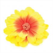 Orange & Yellow Large Flower Beak Clip/Slide AJ23325