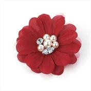 Red Pearl Flower Beak Clip/Slide AJ25070