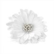 White Seeded Flower Hair Elastic/Clip AJ24096