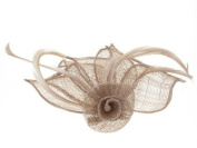 Glitz4Girlz Coffee Coiled Flower Fascinator Clip