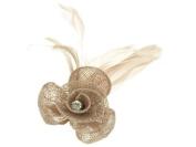 Glitz4Girlz Coffee Crystal Flower Fascinator Clip