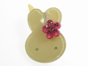 Glitz4Girlz Bunny Resin Hair Clip - Green