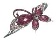 Glitz4Girlz Purple Crystal Butterfly Clip