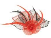 Glitz4Girlz Red/Black Flower Fascinator Clip