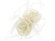 Glitz4Girlz Ivory Flowers Fascinator Band