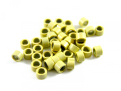 50 Blonde Micro Ring For Hair Extension 4.0mm Screw Thread Beads Synthetic Hair