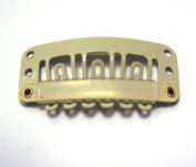 Hair Extension Clips 3.2cm Blonde For Average to Thick Hair Qty 30