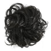 Hair Piece Bun Extension scrunchie BLACK with HONEY BLONDE