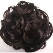 Hair Piece Bun Extension scrunchie DARK BROWN