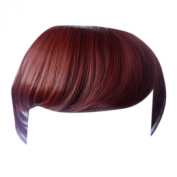 Fringe Bang Clip in Hair Extensions STRAIGHT Copper #350