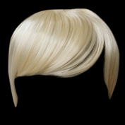 Fringe Bang Clip in Hair Extensions STRAIGHT Lightest Blonde #60