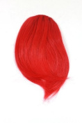 Hair Piece Clip in Bangs Fringe HIGH QUALITY synthetic fibre RED bright red copper YZF-1088HT-113