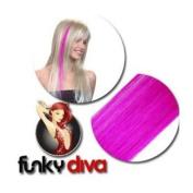 Funky Diva Kunsthaarsträhnen 2er-Set, cerise