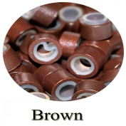 1000 Brown Silicone Rings 5mm rings for I Tip Hair Extensions or Feather Hair Extensions