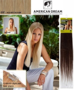 American Dream Quick-Fix Clip In Hair Extensions - 100% Human Hair Colour C17 -Mousey Blonde