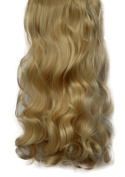 2.3cm Clip in Hair Extensions CURLY Golden Blonde #26 FULL HEAD 8pcs